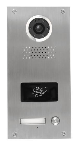 NEOSTAR Unterputz-Türstation für 1-Familienhaus mit hochauflösender Kamera, RFID und Nachtsicht, 4-Draht-Technik - BMV-T2401WR
