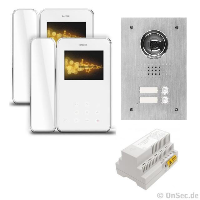 """Balter Video Haus Sprechanlage für 2-Familienhaus mit 2x 3,5"""" TFT-LCD Monitor mit Hörer 4-Draht-Technik - BMV-ON11"""