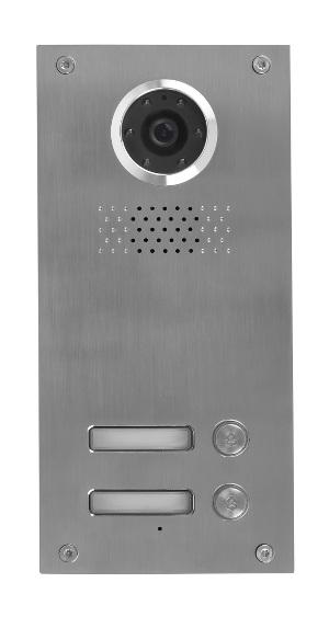 NEOSTAR Unterputz-Türstation für 2-Familienhaus mit hochauflösender Kamera und Nachtsicht, 4-Draht-Technik - BMV-T2402W